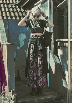 Nicole X Missguided Faux Leather Crop Top, Fjällräven Kåken Backpack, Monki Coat, Floral Maxi Skirt (Dress), Ebay Creepers