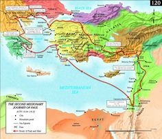 maps of Pauls ministries | Apostle Paul's Missionary Journeys | Gracepoint Devotions