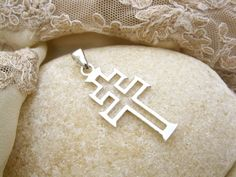 Cruz de Caravaca - modern style Christian cross pendant with a long history
