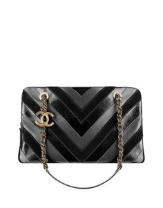 65cd526d4ec This two-tone leather chevron design is both modern and timeless.