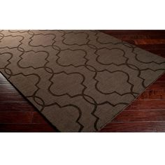 Hand Loomed Sedona Casual Solid Tone-On-Tone Moroccan Trellis Wool Area Rugs (8' x 11') (Brown-(8' x 11')), Brown, Size 8' x 11'