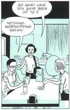 """Daniel Clowes  I think Lucifer, if real, would probably just go by """"lucy"""" to his friends."""