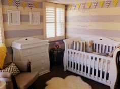 Yellow & grey unisex nursery