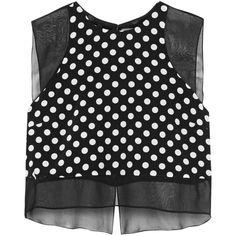 0cafa1e0fba90 Elizabeth and James Enno polka-dot washed-silk top ( 110) ❤ liked