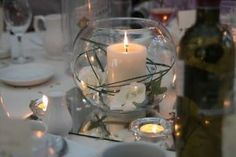 Wedding Table Decorations-Candles,Fish bowls,Mirrors,Roses,Cream&Gold(Job lot)   eBay