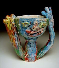 Cool, colorful cup by Richard Nickel.
