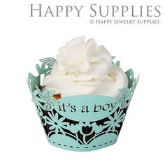 24pcs (CW049) Laser Cut Cupcake Wrappers / Cake Deco / Party Decoration / Packaging - 18 Colors Available by HappyJewelrySupplies on Etsy https://www.etsy.com/listing/162448514/24pcs-cw049-laser-cut-cupcake-wrappers
