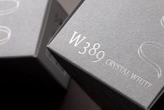 W389 Crystal White Package identity Design on Behance