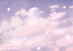 "maiscribbles: "" Been a while I did some pastel aesthetic. Youtube Banner Backgrounds, Anime Backgrounds Wallpapers, Pretty Wallpapers, Backgrounds Free, Sky Aesthetic, Purple Aesthetic, Aesthetic Anime, Aesthetic Photo, Aesthetic Fashion"