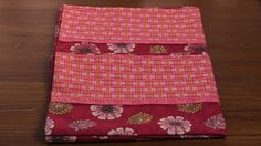 Designer Custom Made Pillow Cases set of two. Standard Size. 100% cotton. Modern Classic Floral in Red by QuiltersBasketShop on Etsy
