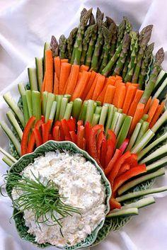 Botana vegetales fiesta