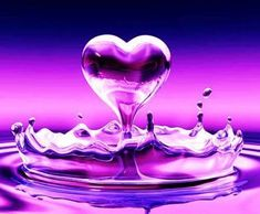 Free Purple Pink Water Heart phone wallpaper by uzueta. Create and share your own ringtones and cell phone wallpapers with your friends. Purple Love, All Things Purple, Shades Of Purple, Pretty In Pink, Pink Purple, Purple Hearts, Hot Pink, Heart Wallpaper, Images Wallpaper