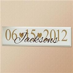 Wedding Date Wooden Plaque | Lillian Vernon - Personalized Plaques & Family Signs | Lillian Vernon