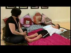 Massage for Children With Growing Pains : Massaging a Child With