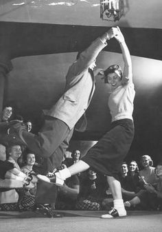 My parents were awesome dancers!  The lindy was one of their favs.  Mom always said that one of the big reasons she fell for my dad was because he was a great dancer.