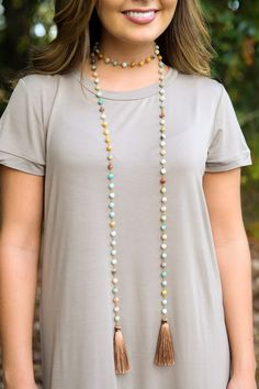Skygazer Multi Beaded Wrap Necklace at reddressboutique.com