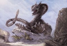Hunting Rattelyr Dragon by Richard Sardinha