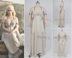 Daenerys Targaryen Mother of Dragons Dress Costume for Game of Thrones  just $130 on moviescostume.com