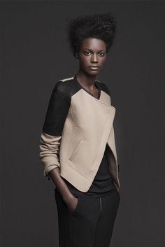 куртка с кожей ZARA