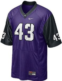 Amazon.com   Tcu Horned Frogs Replica Football Jersey -  43 Purple - Men -  3XL   Sports   Outdoors 9ba070a40