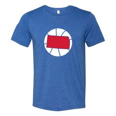 25e929aa4a0 Kansas Basketball State Tee - Red | Royal Blue Vintage Florida, Kansas  Basketball, Royal