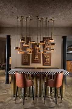 Beyond Designs Launches its New Flagship Store & Café We on MG Road - The Architects Diary Dining Decor, Modern Dining Table, Diningroom Decor, Modern Bar Tables, Dinning Table, Dining Rooms, Dining Area Design, Wooden Panelling, Luxury Home Furniture