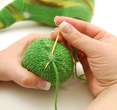 Good tips on finishing, especially for knitted toys