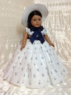 Reservados mediados de 1800 de vestido por DollSizeDesigns en Etsy