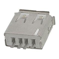 10 Pcs Straight Solder Type USB A Female Plug Jack Connector