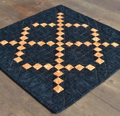 Mini Quilt  Table Mat  Table Topper  Fall by RyensMarketplace