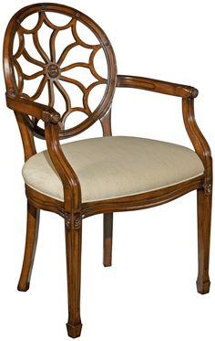 Otro De Los Diseños Popularizados Por Hepplewhite: La Spider Back Chair O  Silla Con