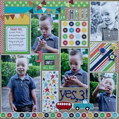 "Scrapbooking from the Heart: ""Boy pages"" and ""girl pages""-this is super cute!"