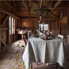 A beautiful, rustic mill on the shores of lake Rinnen, Sweden - Thanksgiving Design Rustic Charm, Rustic Style, Bohemian Style, Deco Table, Scandinavian Home, Decoration Table, Logs, Hygge, House Tours