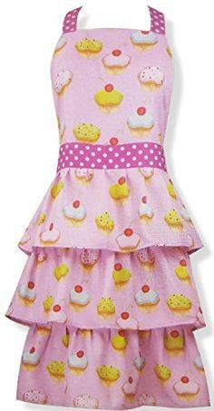 Cute Cupcake Full Length Apron Gourmet Club