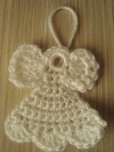 Crocheted Christmas Angel Ornament