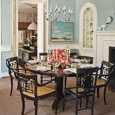 Try a Round Table Encourage conversation with a round table. To keep things intimate, your table shouldn't exceed 40-inches in diameter. Th...