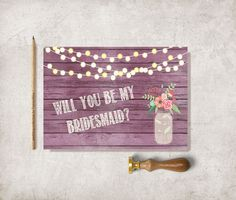 Bridesmaid Card Printable Maid of honor Card 5x7  by tranquillina, $5.00