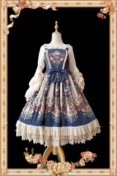 Sweet Lolita Dresses, Gothic Lolita Dresses, Classic Lolita Dresses and Customizable Lolita Dresses from Taobao Brands Harajuku Fashion, Lolita Fashion, Pretty Outfits, Pretty Dresses, Gothic Lolita Dress, Lolita Cosplay, Royal Dresses, Fantasy Dress, Kawaii Clothes