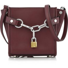 Alexander Wang Attica Chain Mini Satchel ($705) ❤ liked on Polyvore featuring bags, handbags, red, leather hand bags, long strap purse, satchel handbags, leather man bags and chain strap purse