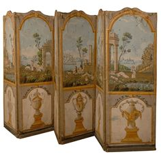 painted French screen