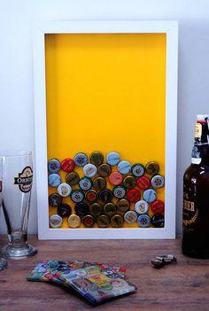 Quadro para coleções de Tampinhas / Chapinhas de cerveja