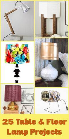Bright ideas for revamping old lamps and making new ones, for both creative floor lamps and diy table lamps @remodelaholic