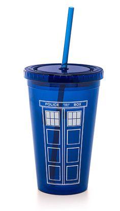 Doctor Who 18oz Acrylic Cup W/ Straw :: ThinkGeek