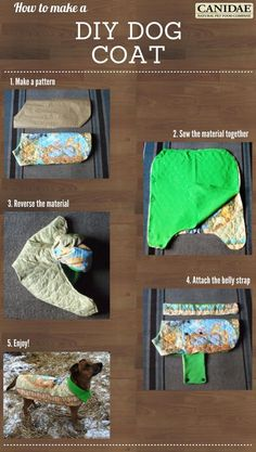 How to make a DIY dog coat                                                                                                                                                                                 More #DogAccesories