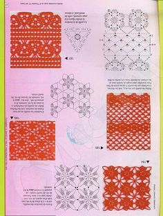 175 Pattern for Crochet Flowers Stitches Easy Crochet Granny, Irish Crochet, Crochet Motif, Crochet Doilies, Crochet Flowers, Knit Crochet, Crochet Stitches Chart, Crotchet Patterns, Crochet Borders