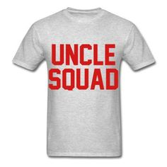 78920271 RED PRINT! Uncle Squad, Unisex Graphic T-Shirt Bad Santa, Niece And