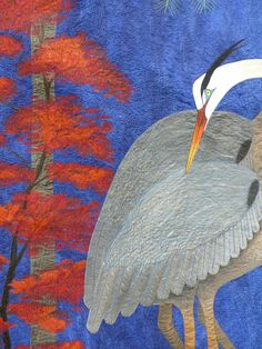 "Autumn Beauty by Barbara Shapel (detail) 56"" x 59"".  Photo by Idaho Beauty Quilts.  2011 Pacific West Quilt Show."