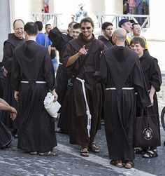 Sons of St Francis -- Today, 4 October, is the feast of St Francis of Assisi, and these Capuchin friars are part of the many branches of the Franciscan family.  My sermon for today can be read here.