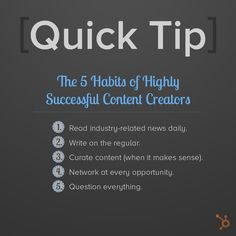 5 Habits of Highly Successful Content Creators