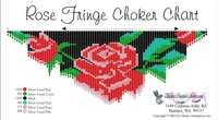 Rose Fringe Necklace Printable Bead Graph for Beading